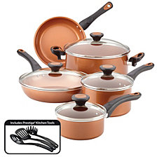 Farberware(r) Glide(tm) Copper Ceramic Nonstick Cookware Set, Copper, 12-Piece