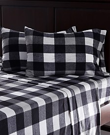 Berkshire Blanket & Home Co.® Prairie Plaid Microfleece Full Sheet Set