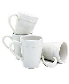 Algarve 4 Piece White Mug Set