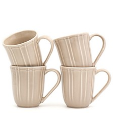 Chloe 4 Piece Taupe Mug Set