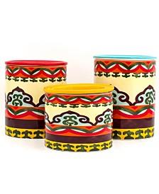 Euro Ceramica Galicia 3 Piece Canister Set