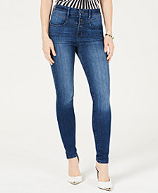 GUESS Chevron 1981 Button-Fly Skinny Jeans