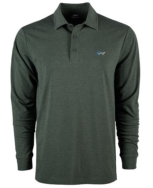 Greg Norman Men's Long-Sleeve Polo, Created for Macy's