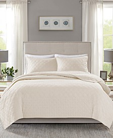Linnette 3-Pc. Full/Queen Coverlet Set