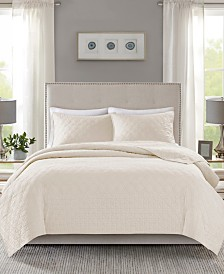 Madison Park Linnette 3-Pc. Full/Queen Coverlet Set