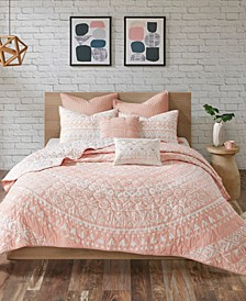 Larisa 7-Pc. King/California King Cotton Coverlet Set