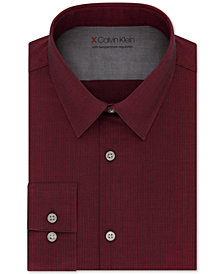 Calvin Klein X Men's Extra-Slim Fit Temperature Regulating Stretch Red Dress Shirt