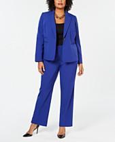 ca627b395066d Le Suit Plus Size One-Button Pantsuit