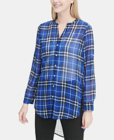 Calvin Klein High-Low Printed Shirt