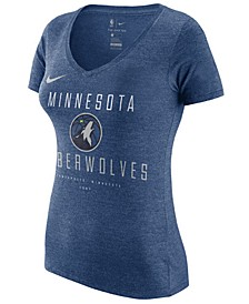 Women's Minnesota Timberwolves Dri V-Neck T-Shirt