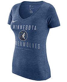 Nike Women's Minnesota Timberwolves Dri V-Neck T-Shirt