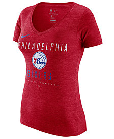 Nike Women's Philadelphia 76ers Dri V-Neck T-Shirt