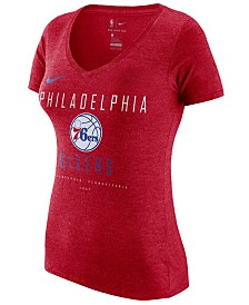 Nike Women's Philadelphia 76ers Dri V-Neck T-Shirt