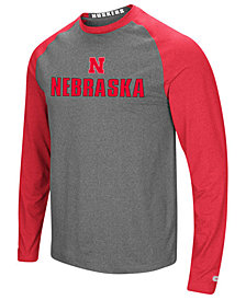 Colosseum Men's Nebraska Cornhuskers Social Skills Long Sleeve Raglan Top