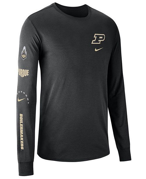 sports shoes 0df5d b2cf9 Men's Purdue Boilermakers Long Sleeve Basketball T-Shirt