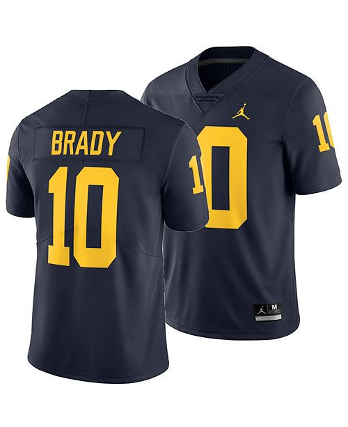 outlet store e4ce0 2ce03 Men's Tom Brady Michigan Wolverines Limited Football Jersey