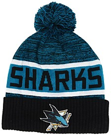 Authentic NHL Headwear San Jose Sharks Goalie Knit Hat