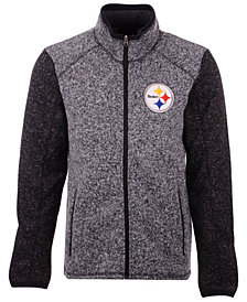 G-III Sports Men's Pittsburgh Steelers Alpine Zone Sweater Fleece Jacket