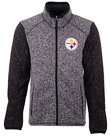 G-III Sports Men's Pittsburgh Steelers Alpine Zone Sweater Fleece Jacket