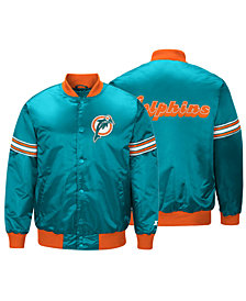 G-III Sports Men's Miami Dolphins Draft Pick Starter Satin Jacket