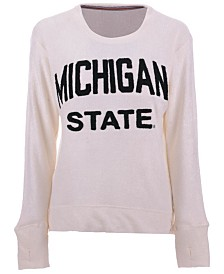 Pressbox Women's Michigan State Spartans Cuddle Knit Sweatshirt