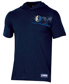 Under Armour Men's Dallas Mavericks Baseline Short Sleeve Hooded T-Shirt