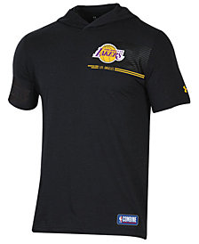 Under Armour Men's Los Angeles Lakers Baseline Short Sleeve Hooded T-Shirt