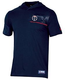 Men's Washington Wizards Baseline Short Sleeve Hooded T-Shirt