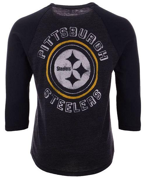 bd94279d6 Men s Pittsburgh Steelers End Around Three-Quarter Raglan T-Shirt ...