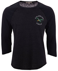 Authentic NFL Apparel Men's Philadelphia Eagles End Around Three-Quarter Raglan T-Shirt