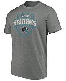 Majestic Men's San Jose Sharks Flex Classic Tri-Blend T-Shirt