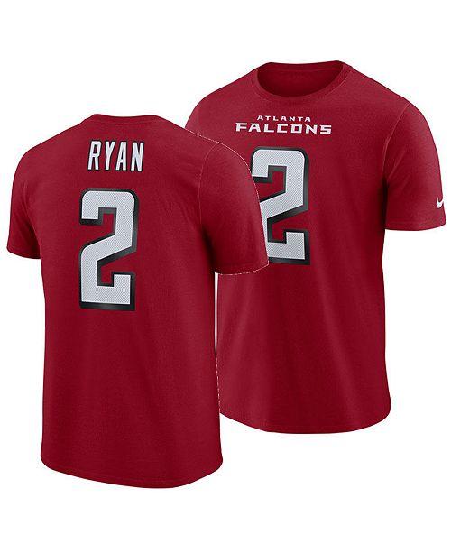 Nike Men's Matt Ryan Atlanta Falcons Pride Name and Number Wordmark T-Shirt