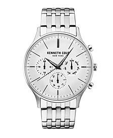 Kenneth Cole New York Men's Multifunction Silver Bracelet Watch 42mm