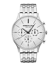 Kenneth Cole New York Men's Multifunction Silver Bracelet Watch 42mm