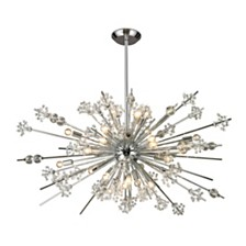 Starburst Collection 29 light chandelier in Polished Chrome