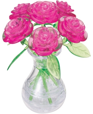 3D Crystal Puzzle - Roses in a Vase