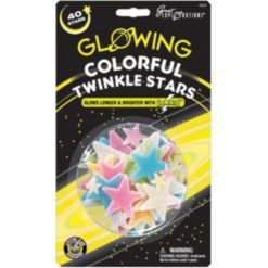 Glowing Colorful Twinkle Stars