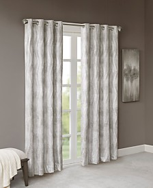Sunsmart Victorio Jacquard Grommet Top Total Blackout Window Curtain Collection