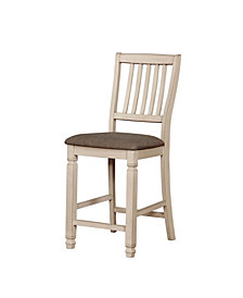 Rachel II Rustic Fabric Counter Height Dining Chair