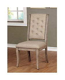 Aggate Rustic Upholstered Dining Chair (Set of 2)