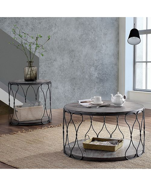 Admirable Furniture Of America Haverford Wire Twisted Coffee Table Pdpeps Interior Chair Design Pdpepsorg