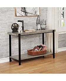 Budsing Two-Tone Open Shelf Sofa Table