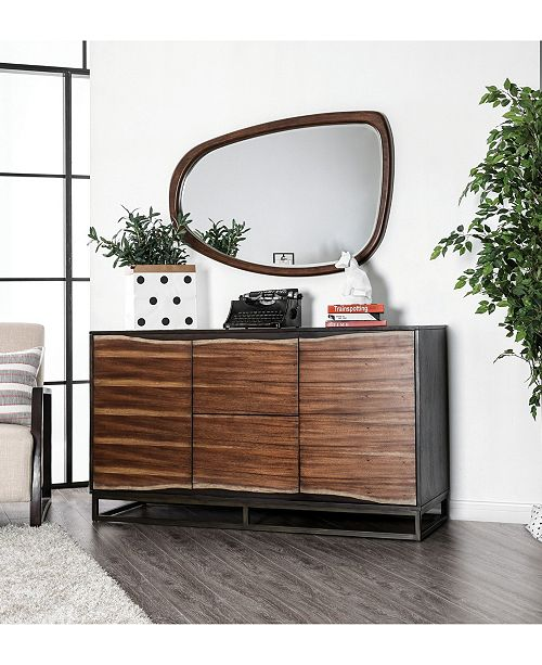 Furniture of America Trippen Live Edge Free-Formed Mirror