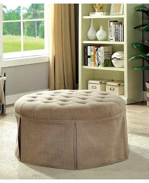 Astounding Hampton Transitional Round Storage Ottoman Short Links Chair Design For Home Short Linksinfo