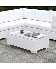 Arthur Tempered Glass Top Outdoor Coffee Table