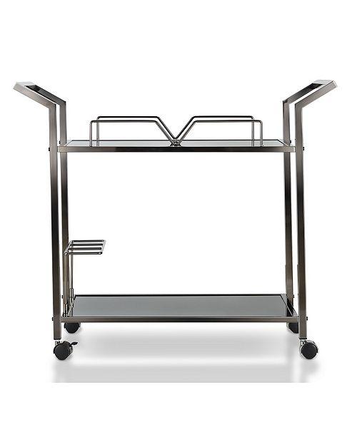 Furniture of America Denver Contemporary Serving Cart