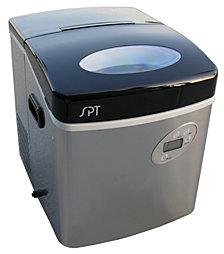 SPT Portable Ice Maker with Digital Controls - Stainless Steel