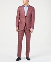 19d9e3db5b6 Tommy Hilfiger Men s Modern-Fit Brick Blue Windowpane Suit Separates