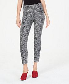 Calvin Klein Printed Skinny Capri Pants