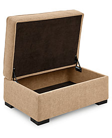 "Radley 36"" Fabric Chair Bed Storage Ottoman - Custom Colors, Created for Macy's"